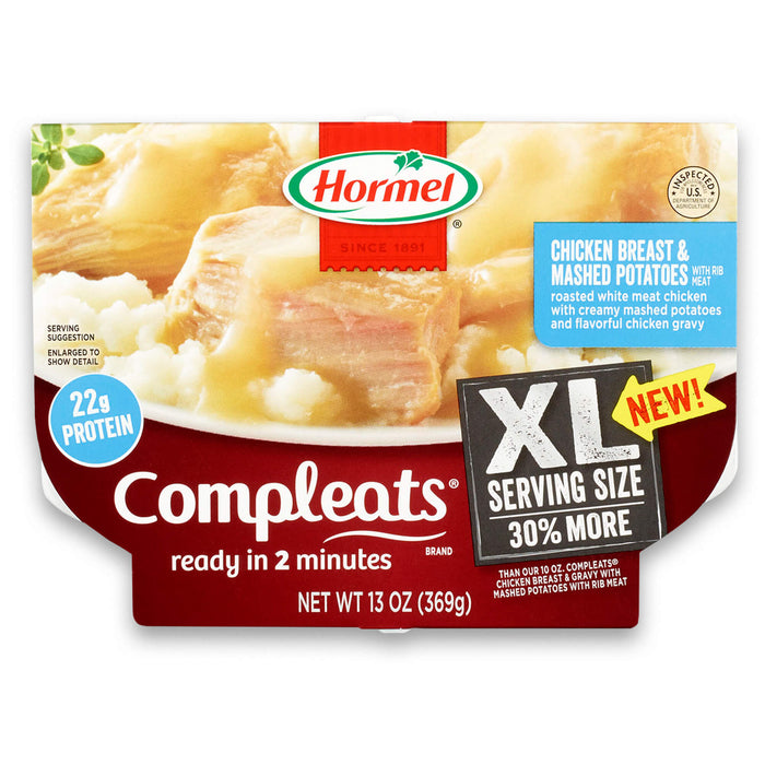 Hormel Compleats XL Chicken Breast & Mashed Potatoes, 13 Ounce