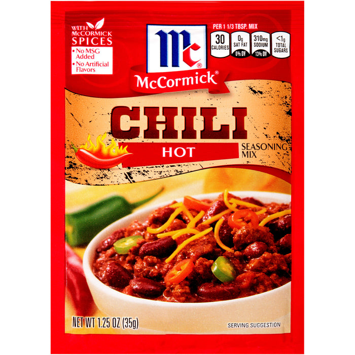 McCormick Hot Chili Seasoning Mix, 1.25 oz