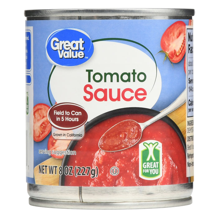 Great Value Tomato Sauce, 8 oz