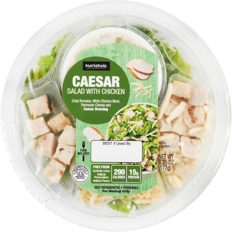 Marketside Chicken Caesar Salad Bowl 6.25 oz