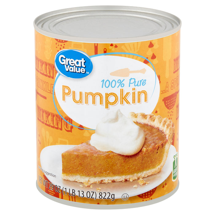 Great Value 100% Pure Canned Pumpkin 29 oz