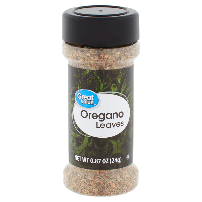 Great Value Oregano Leaves, 0.87 oz