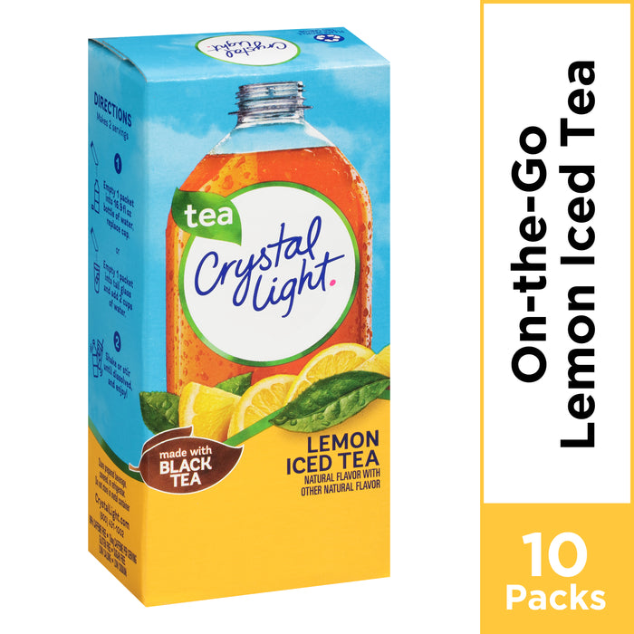 Crystal Light Lemon Iced Tea Powdered Drink Mix, 10 ct - 0.7 oz Packets
