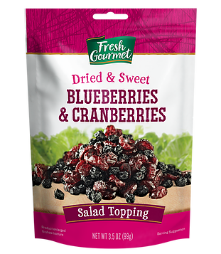 Fresh Gourmet Dried and Sweet Blueberries and Cranberries, 3.5oz