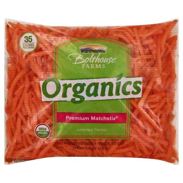 Bolthouse Farms Organics Premium Matchstix Julienne Carrots, 10 oz