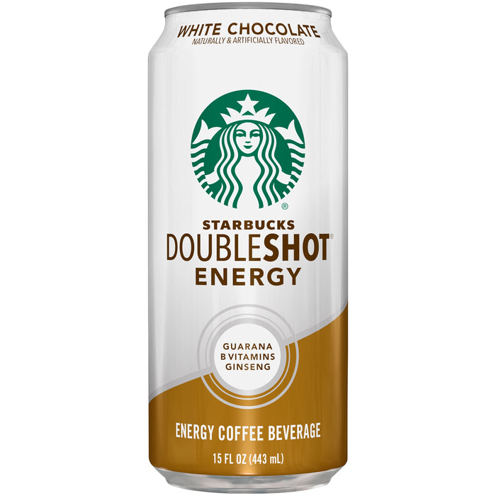 Starbucks Doubleshot Energy White Chocolate Fortified Energy Coffee Drink, 15 fl oz