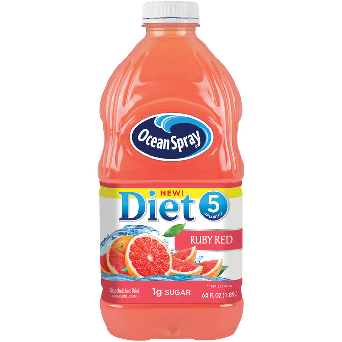 Ocean Spray Diet Ruby Red Grapefruit Juice Drink, 64oz