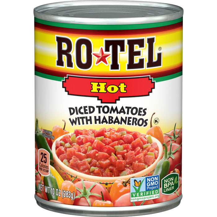 RO*TEL Hot Diced Tomatoes with Habaneros 10 Ounce