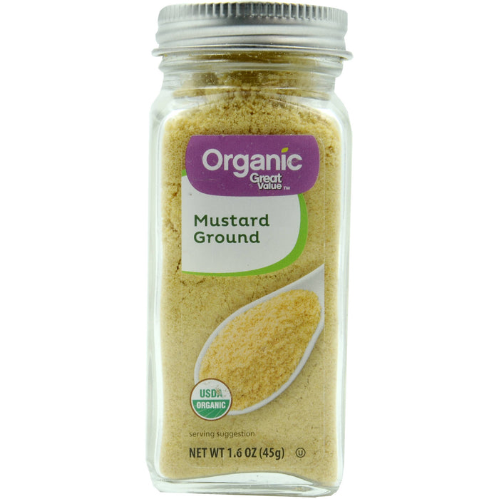 Great Value Organic Mustard Ground, 1.6 oz