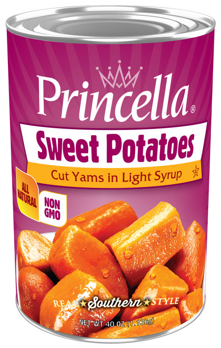 Princella Cut Sweet Potatoes, 40 oz