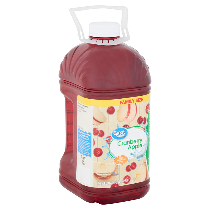 Great Value Cranberry Apple Juice Cocktail, 128 Fl. Oz.