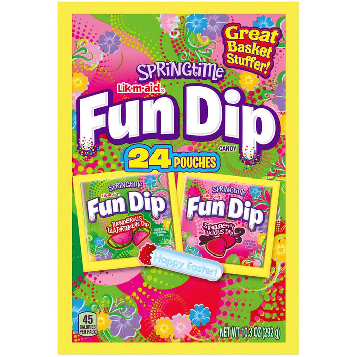 FUN DIP Springtime Wonderous Watermelon & Strawberry Licious Candy Variety Pack 10.32oz (24 Count)