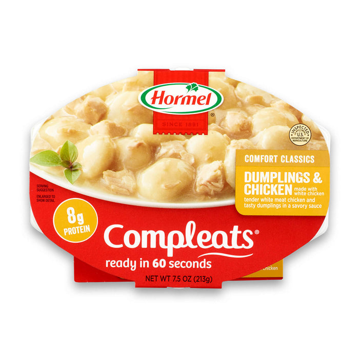 Hormel Compleats Dumplings & Chicken, 7.5 Ounce
