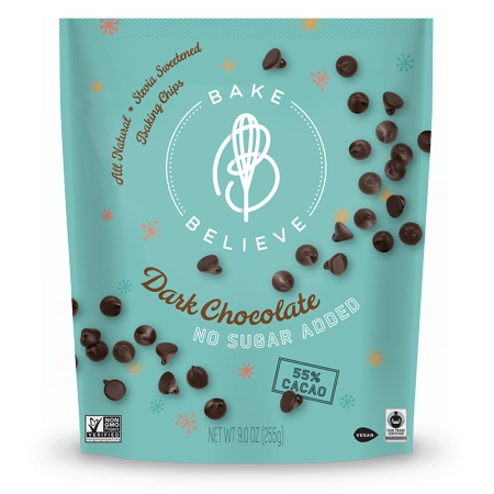 Bake Believe ,Keto-Friendly, Dark Chocolate Chips, 9 oz