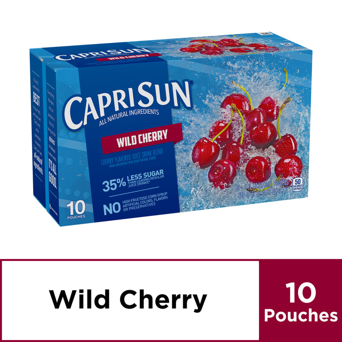 Capri Sun Wild Cherry Flavored Juice Drink Blend, 10 ct - Pouches, 60.0 fl oz Box