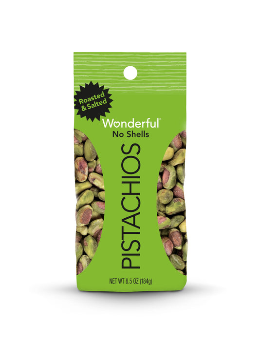 Wonderful Roasted & Salted No Shells Pistachios, 6.5 oz