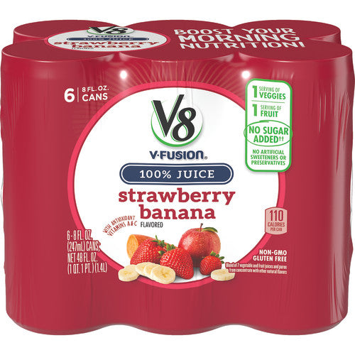 V8 Strawberry Banana, 8 oz., 6 pack