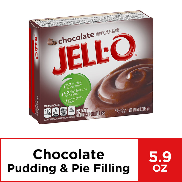 Jell-O Chocolate Instant Pudding Mix, 5.9 oz Box