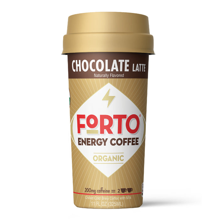 Forto Chocolate Latte Ready-To-Drink Coffee 200mg Caffeine, 11 fl oz Cup