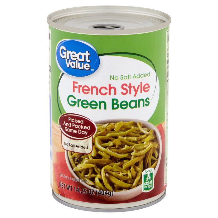 Great Value French Style Green Beans, 14.25 oz
