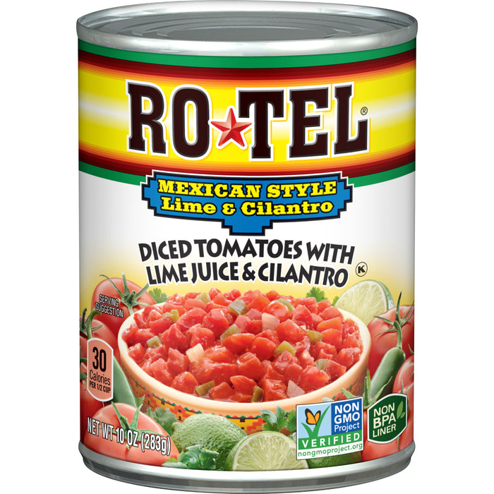 RO*TEL Mexican Style Diced Tomatoes with Lime Juice and Cilantro 10 Ounce