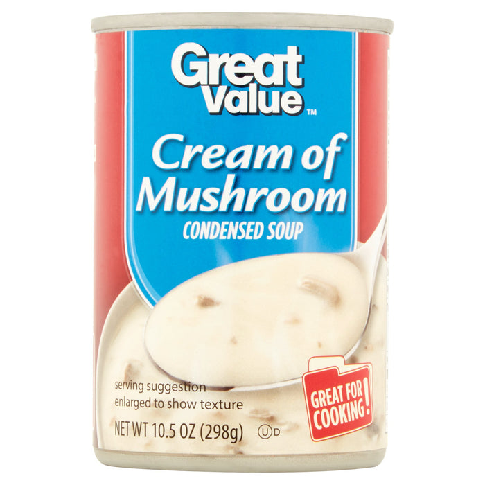 Great Value Cream of Mushroom Condensed Soup, 10.5 oz
