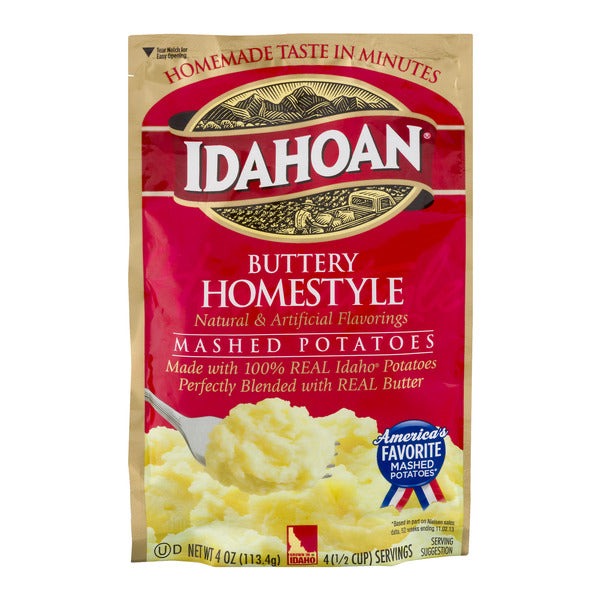 Idahoan Buttery Homestyle Mashed Potatoes 4 Oz, 1 Pouch