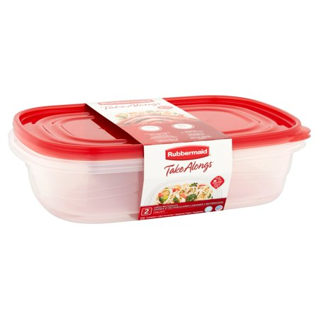 Rubbermaid Take Alongs Rectangular Food Storage Container Set (2 Pieces)