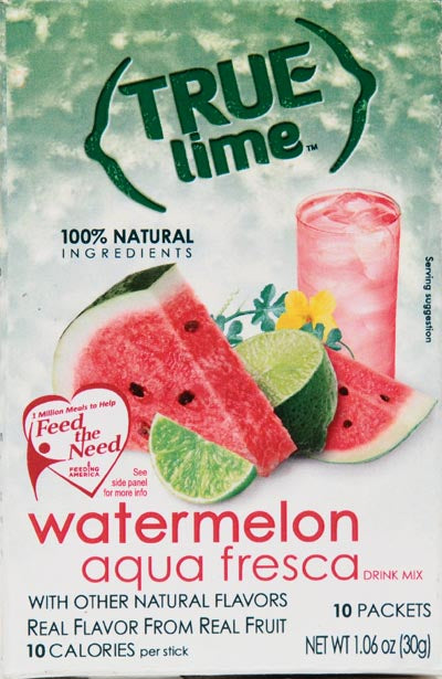 True Lime Watermelon Aqua Fresca Drink Mix, 1.06 Oz., 10 Count