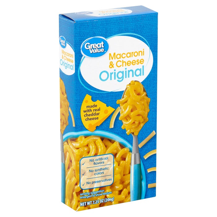 Great Value Original Macaroni & Cheese, 7.25 oz