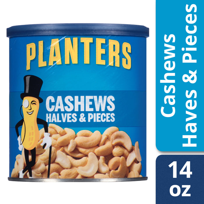 Planters Cashew Halves & Pieces, 14.0 oz Canister