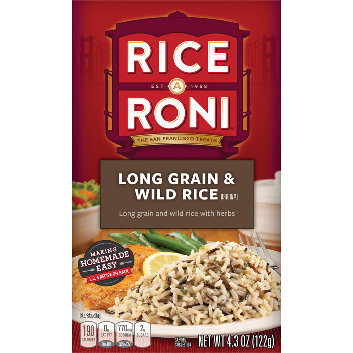 Rice-A-Roni Long Grain & Wild Rice Mix, 4.3 oz Box