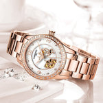 Women Watches Fashion 2019 Designer Ladies Watch Luxury Brand Diamond Automatic mechanical Rose gold Wrist Watch Gifts For women