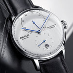 Nesun Men watches Brand Luxury Automatic Mechanical Watch Leather sapphire Waterproof Relogio Masculi Energy Display Clock N9603
