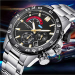 2019 Luxury Brand PAGANI DESIGN Men Stainless Steel Waterproof Sports Business Quartz Clock Watch Chronograph Relogio Masculino