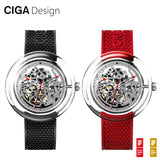 CIGA Design CIGA Watch T Series Mechanical Watch Transparent Hollow Watch Female Mechanical Watch Female Watch