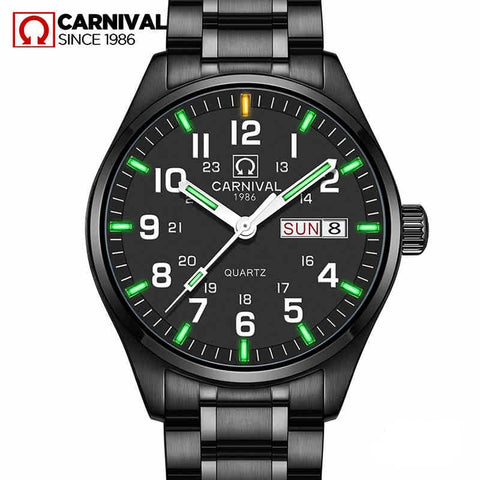 tritium Watches Men Sports Waterproof Date Analogue Quartz Men's Watches Business Watches For Men Relogio Masculino NEW 2019
