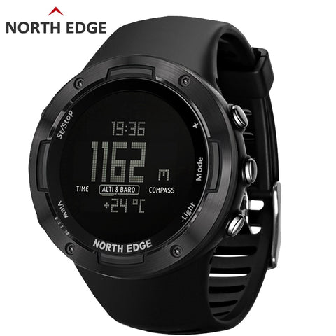North Edge Men's Sports Digital Watch Running Sports Smart Watches Altimeter Barometer Compass Waterproof 50M Thermometer ALTAY3
