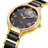 France Luxury Brand AILUO Women's Watches Japan MIYOTA Quartz Movement Sapphire Waterproof Ladies Diamond Wristwatches A7133