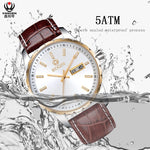 2019 Luxury Brand Sports Designer Quartz Mens Watches Water Resistant Real Leather Strap Calendar Male Wristwatch Reloj Hombre