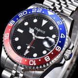 Parnis 40mm Watch Men Automatic Mechanical Watches GMT Luxury Sapphire Crystal Ceramic Bezel Luminous Waterproof men's watches