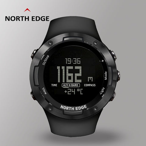 Digital Watch Waterproof NORTHEDGE Sport Watches Mens Rubber Strap Watch Direction Tracking Clock Digital Watches With Compass