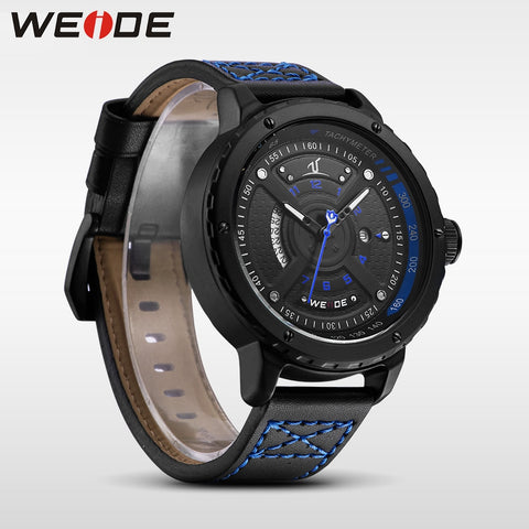 WEIDE casual genuine luxury men's watches famous brands quartz sports leather watches waterproof Schocker clock bracelet watches