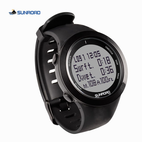 SUNROAD scuba diving digital sports watch computer safety depth 100M waterproof military compass altitude pedometer men women