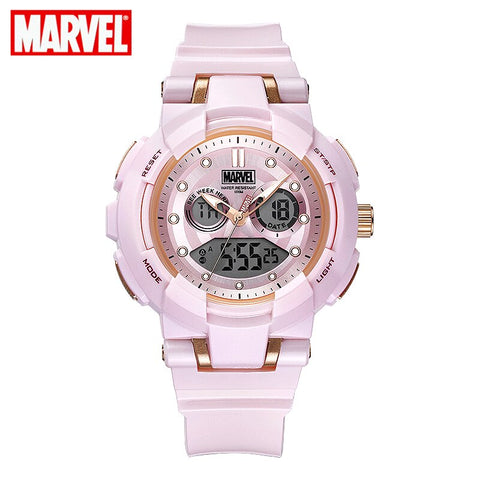 MARVEL Women digital watches Fashion Sports Watches Girl Student Multi-functional 100M Waterproof Electronic Rubber Watch