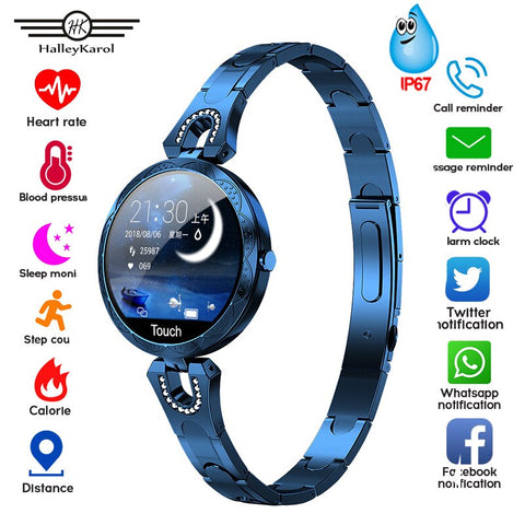 Smart Watch Women Blood Pressure Measurement Electronic Bracelet Heart Rate Monitor Waterproof Ip67 Smartwatch For Android IOS