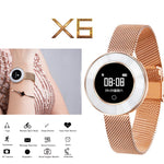 X6 Smart Watch Fitness Smart Bracelet fashion watches Bluetooth Smartwatch Waterproof Wristband Blood pressure for women ladies