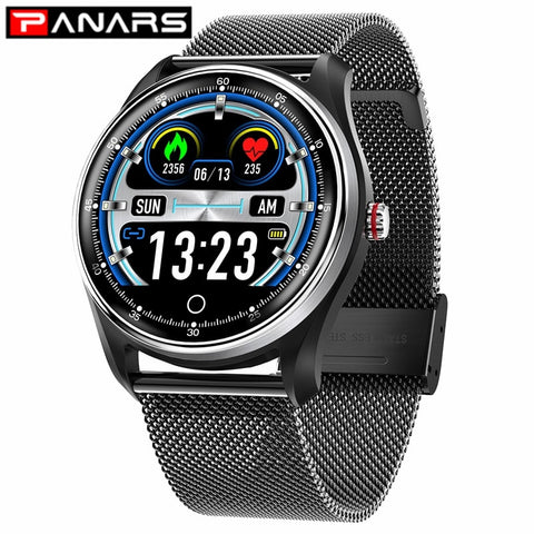 PANARS Smart Watch Men Sports Bluetooth Message Reminder Waterproof Heart Rate Blood Pressure Monitoring Women Wrist Watches
