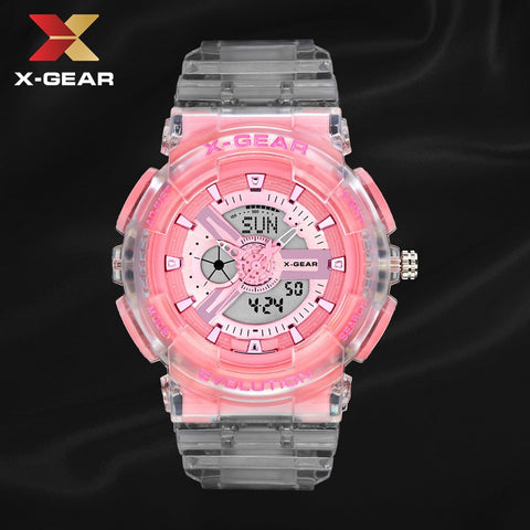 2020 New X-GEAR White Women Sports Watch Women Matcha Pink Waterproof Ladies Jelly Digital Watches reloj mujer relogio feminino