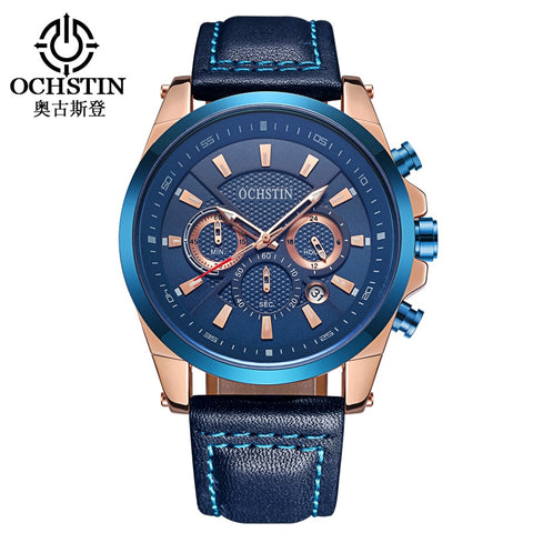 Top Brand Luxury Sports Men Watch Chronograph Multifunction Fashion Military Male Clock Quartz Watch Waterproof Wristwatches